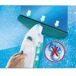 Leifheit 51146 Set Fenstersauger mit Einwascher (Akku, elektrischer Fensterreiniger, 28 cm Fensterwischer) weiß/grün1